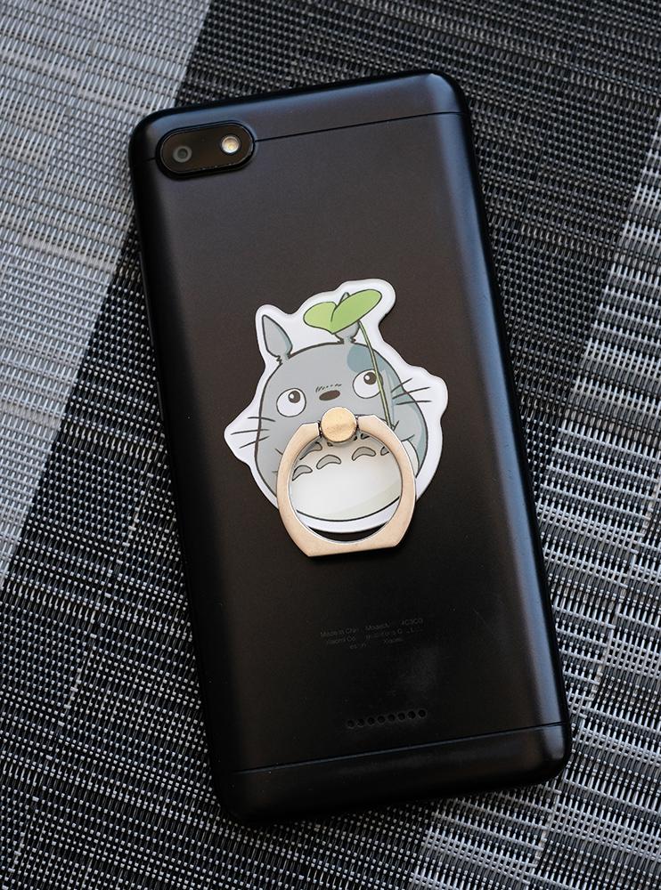 Кільце-тримач для телефона Тоторо і рослина (My Neighbor Totoro)