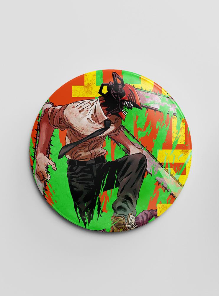 "Значок ""Людина-Бензопила"" (3) (Chainsaw Man)"