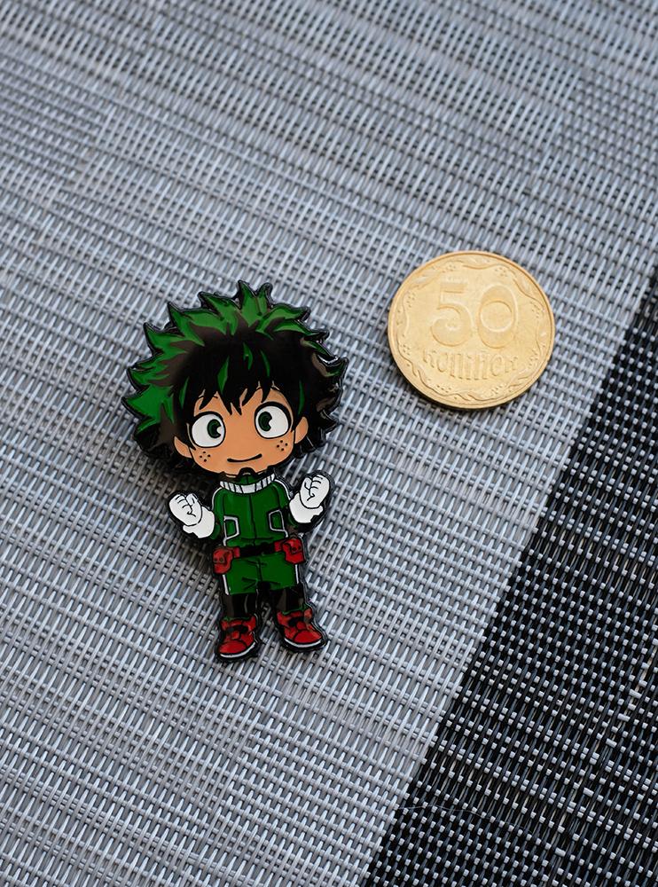 Металевий значок Ідзуку Мідорія чібі (Boku no Hero Academia)