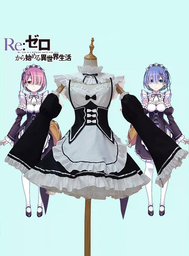 Косплей костюм Рем/Рам (Re:Zero)