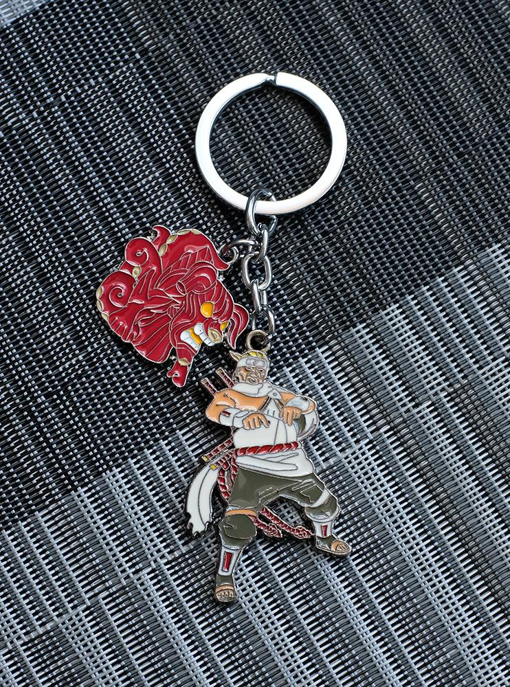 Брелок металевий Кіллер Бі та Восьмихвостий (Naruto)