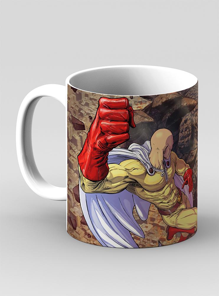 """Чашка """"Сайтама і монстр"""" (One-Punch Man)"""
