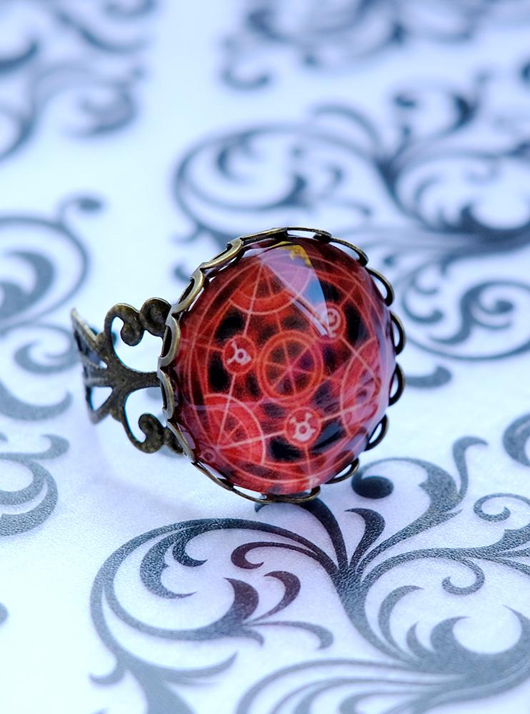 Каблучка з пентаграмою Сталевий алхімік (Fullmetal Alchemist)
