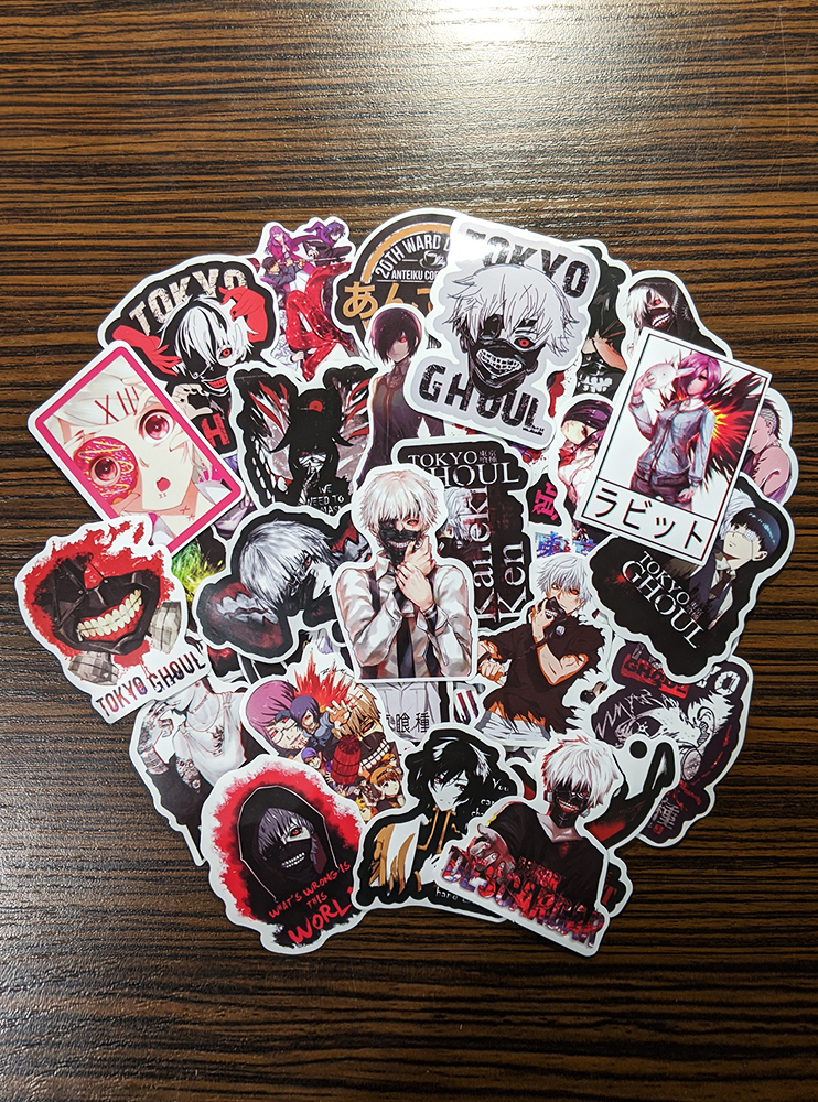"""Стікери """"Токійський Гуль"""" (Tokyo Ghoul)"""