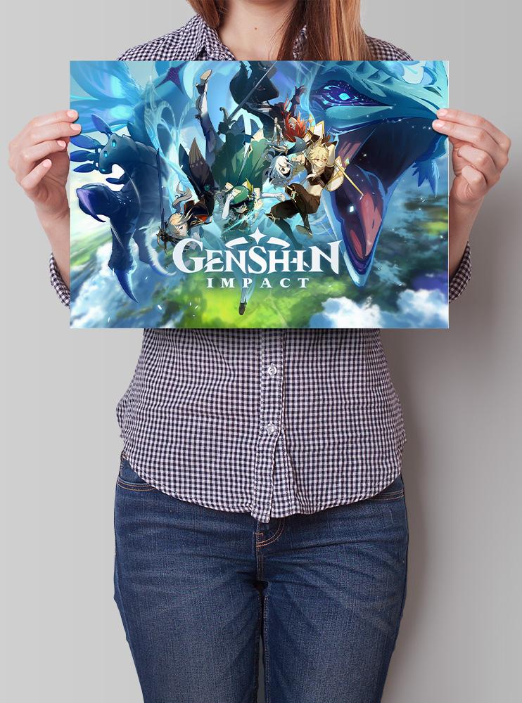 Плакат А3 Genshin Impact (3)